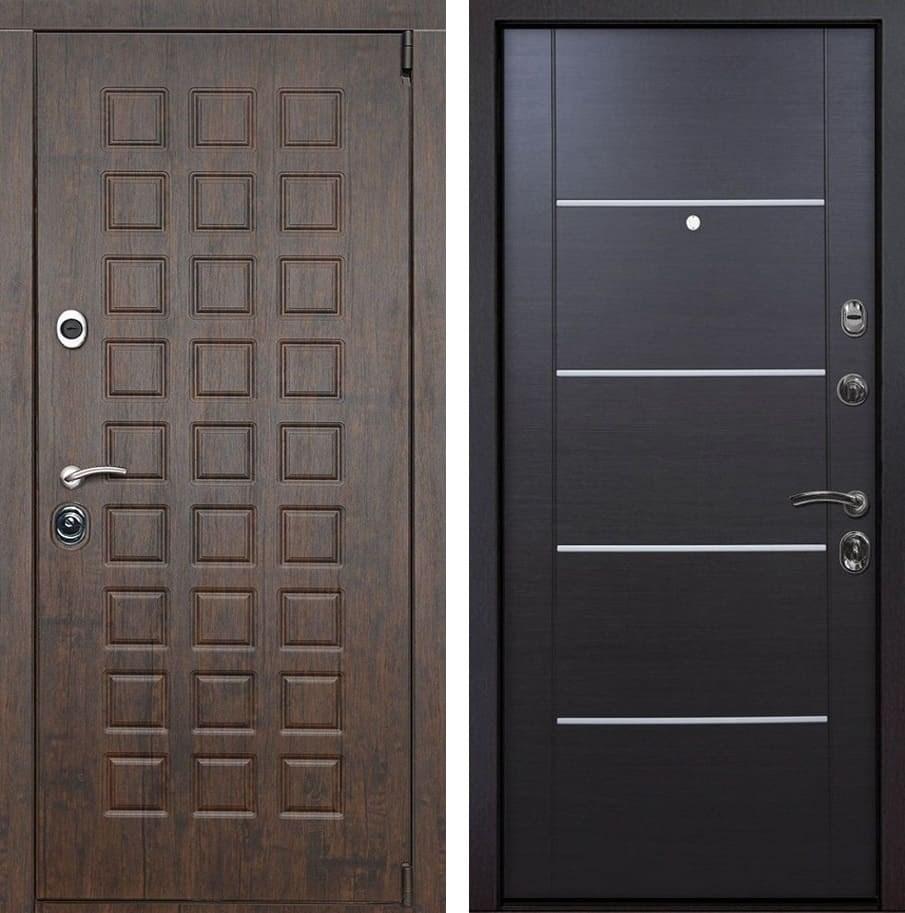 Входная металлическая дверь Верона Молдинг (Тиковое дерево / Венге)