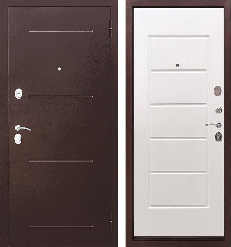 Входная металлическая дверь Гарда (Антик Медь / Ясень белый)