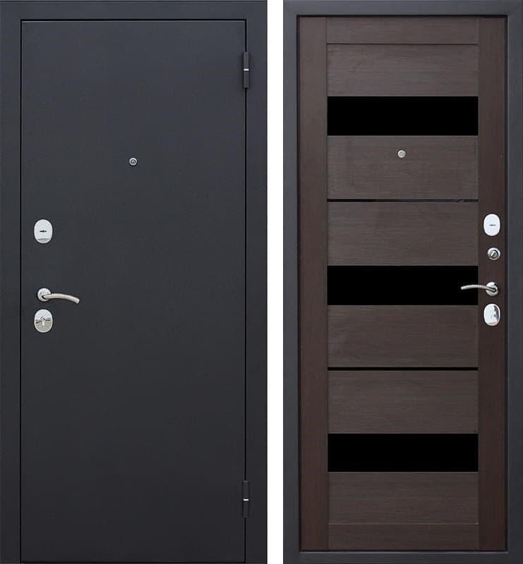 Входная металлическая дверь Гарда Царга (Черный муар / Темный кипарис)
