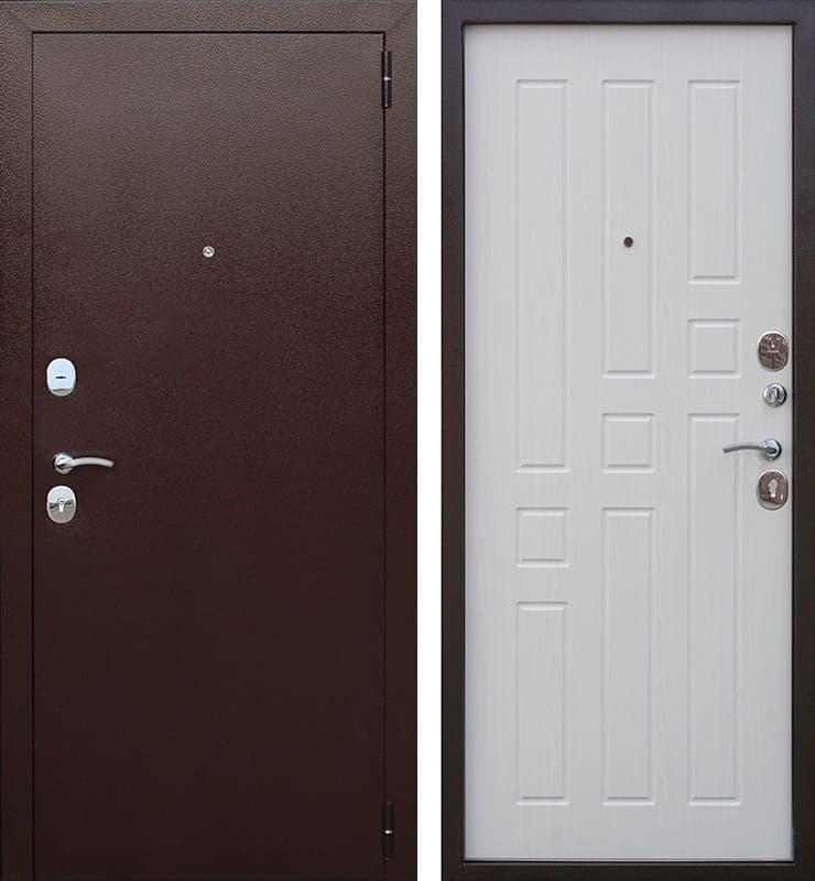Входная металлическая дверь Гарда 60 (Антик Медь / Ясень белый)