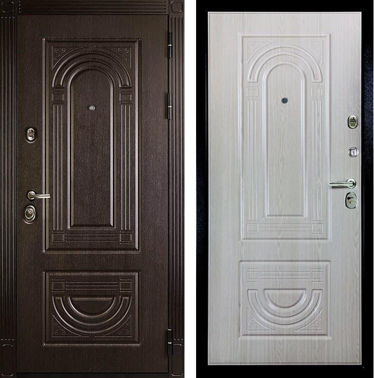 Входная металлическая дверь Дива МД-46 (Венге / Дуб Филадельфия крем)