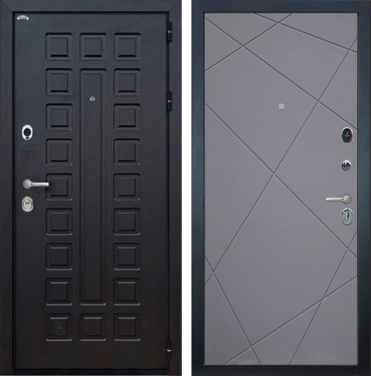 Входная металлическая дверь Интекрон Сенатор Лучи-М (Венге / Софт Графит)