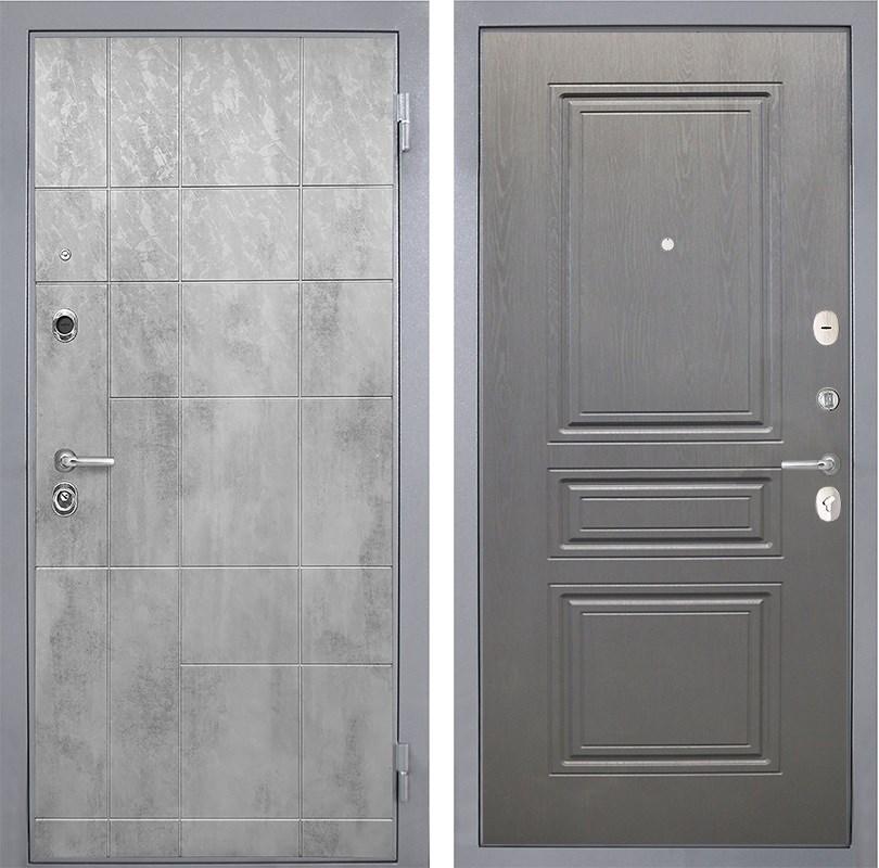 Входная металлическая дверь Интекрон Спарта Грей ФЛ-243-М (Бетон темный / Дуб вуд графит)