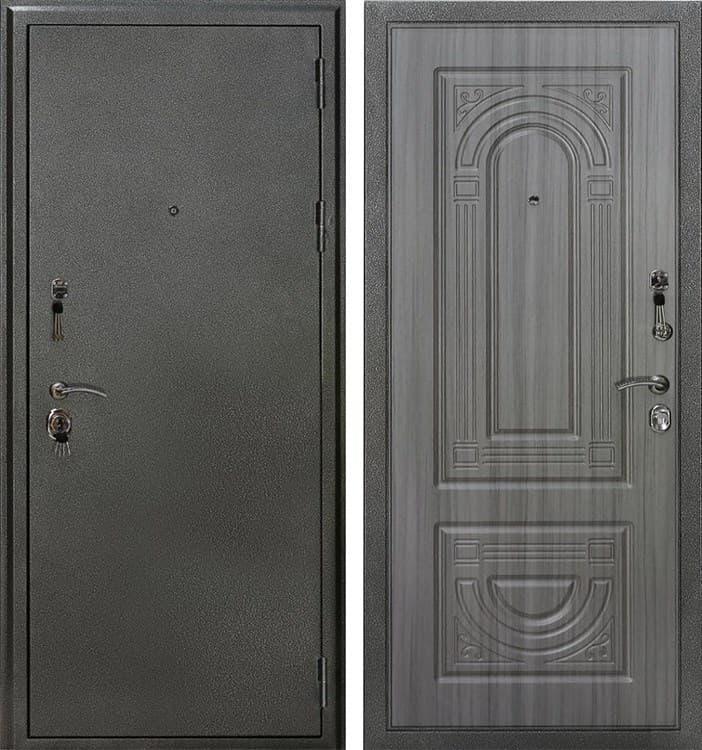 Входная металлическая дверь Кондор Премьер (Серебро черное / Сандал серый)