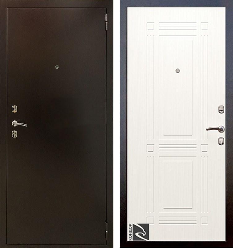 Входная металлическая дверь Кондор 2 (Ясень белый)