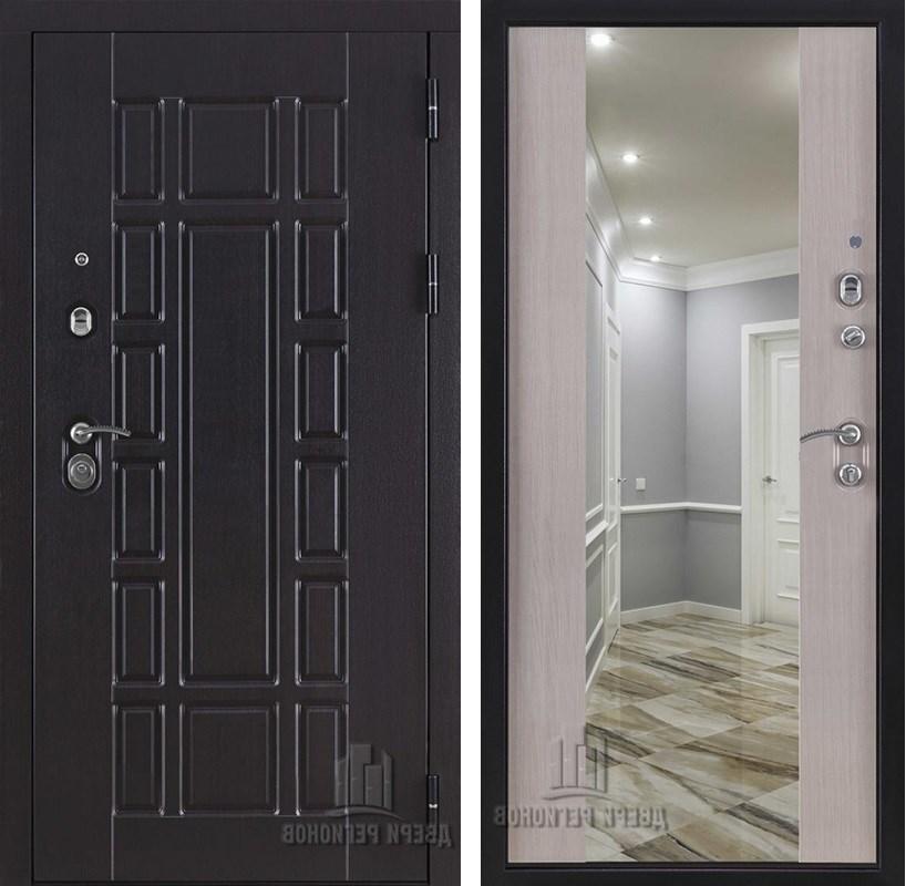 Входная металлическая дверь Консул NEW Z с зеркалом (Венге / Дуб светлый)