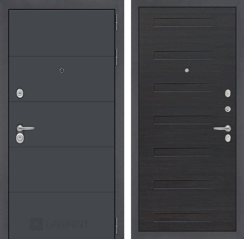 Входная металлическая дверь Лабиринт Арт 14 (Графит софт / ЭкоВенге)