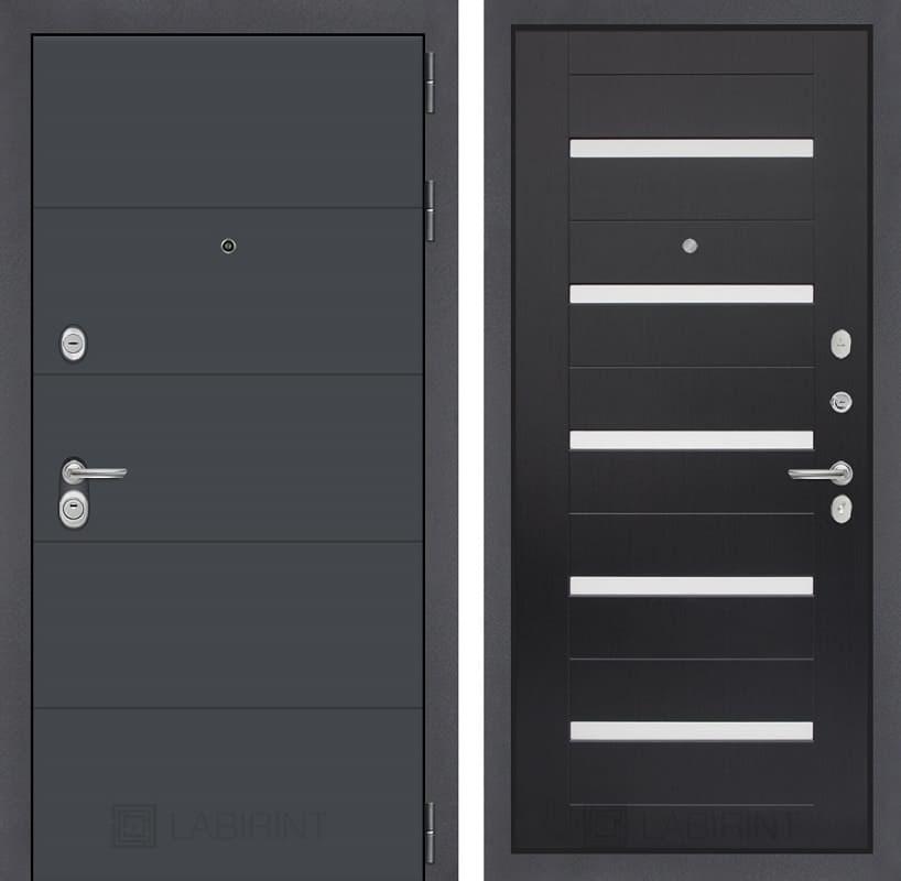 Входная металлическая дверь Лабиринт Арт 1 (Графит софт / Венге)