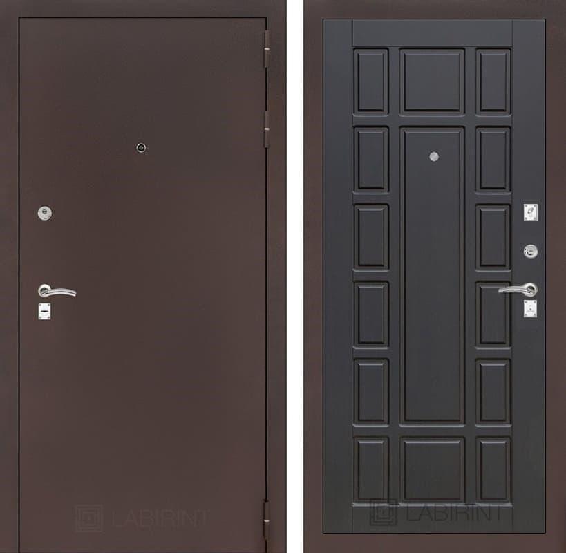 Входная металлическая дверь Лабиринт Классик 12 (Антик медный / Венге)