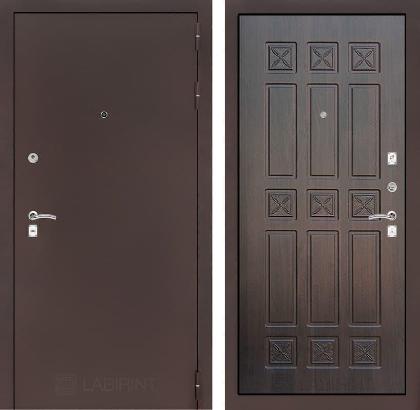Входная металлическая дверь Лабиринт Классик 16 (Антик медный / Алмон 28)