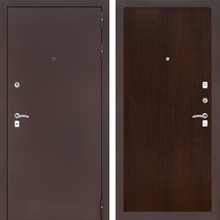 Входная металлическая дверь Лабиринт Классик 5 (Антик медный / Венге)