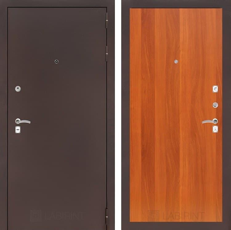 Входная металлическая дверь Лабиринт Классик 5 (Антик медный / Итальянский орех)