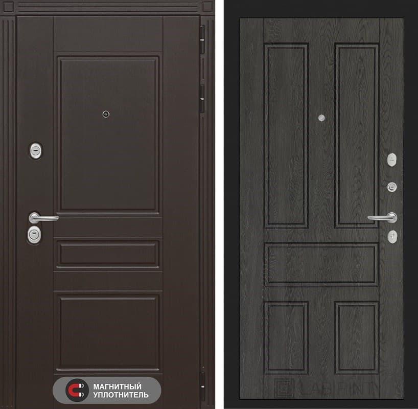 Входная металлическая дверь Лабиринт Мегаполис 10 (Венге / Дуб филадельфия графит)