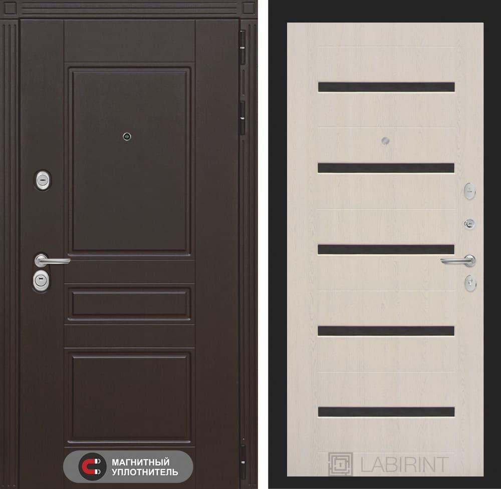 Входная металлическая дверь Лабиринт Мегаполис 1 (Венге / Дуб беленый)