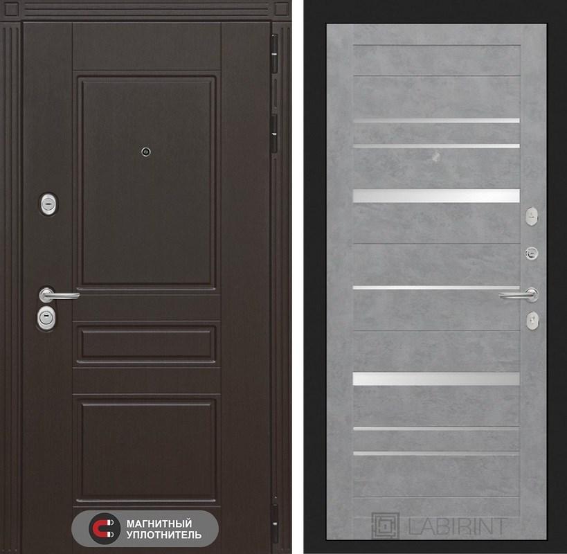 Входная металлическая дверь Лабиринт Мегаполис 20 (Венге / Бетон светлый)