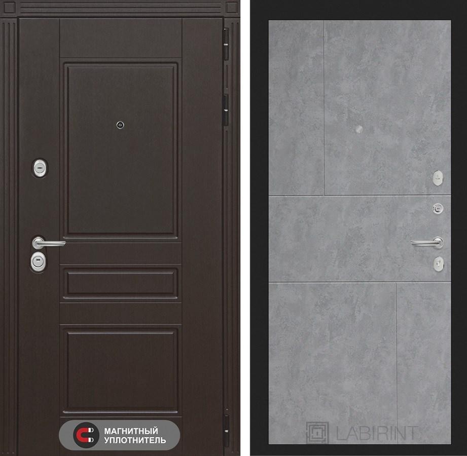 Входная металлическая дверь Лабиринт Мегаполис 21 (Венге / Бетон светлый)
