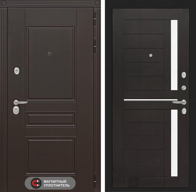 Входная металлическая дверь Лабиринт Мегаполис 2 (Венге / Венге)