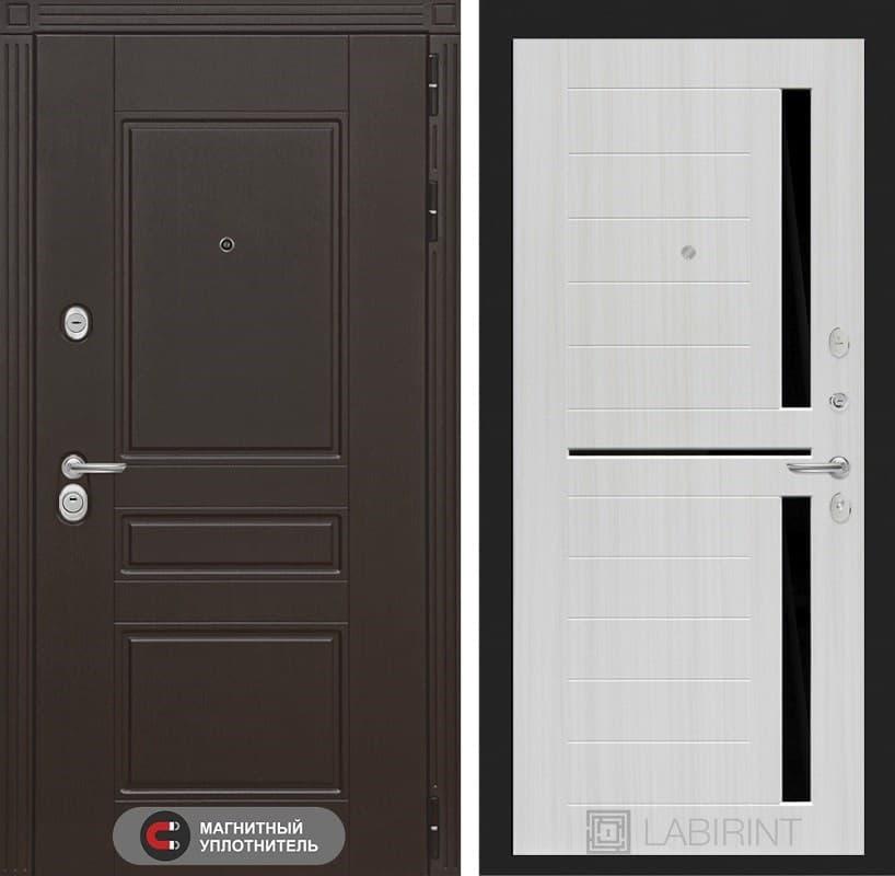 Входная металлическая дверь Лабиринт Мегаполис 2 (Венге / Сандал белый)