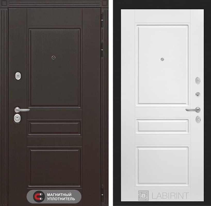 Входная металлическая дверь Лабиринт Мегаполис 3 (Венге / Белый софт)