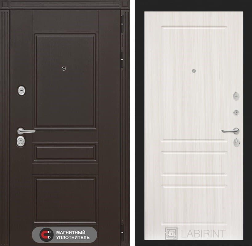 Входная металлическая дверь Лабиринт Мегаполис 3 (Венге / Сандал белый)