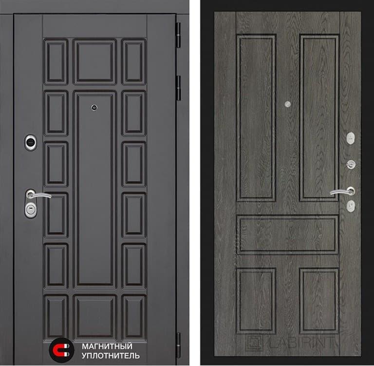 Входная металлическая дверь Лабиринт Нью-Йорк 10 (Венге / Дуб филадельфия графит)