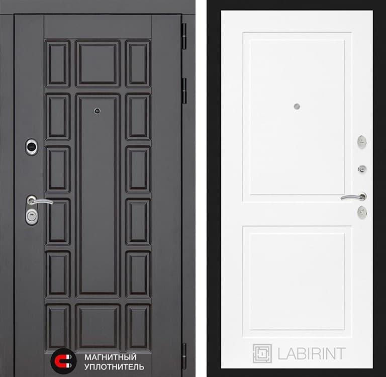 Входная металлическая дверь Лабиринт Нью-Йорк 11 (Венге / Белый софт)