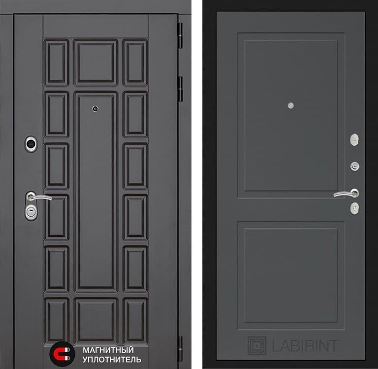 Входная металлическая дверь Лабиринт Нью-Йорк 11 (Венге / Графит софт)