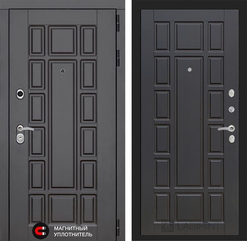 Входная металлическая дверь Лабиринт Нью-Йорк 12 (Венге / Венге)