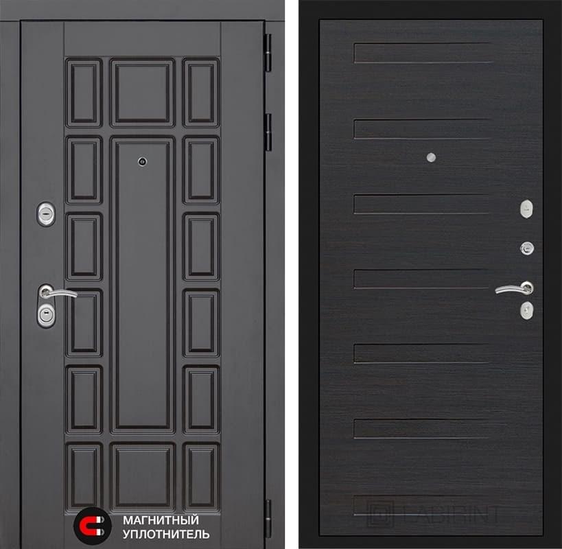Входная металлическая дверь Лабиринт Нью-Йорк 14 (Венге / ЭкоВенге)