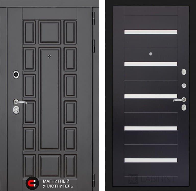 Входная металлическая дверь Лабиринт Нью-Йорк 1 (Венге / Венге)