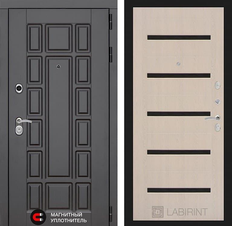 Входная металлическая дверь Лабиринт Нью-Йорк 1 (Венге / Дуб беленый)