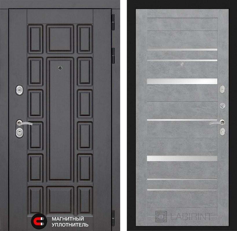 Входная металлическая дверь Лабиринт Нью-Йорк 20 (Венге / Бетон светлый)