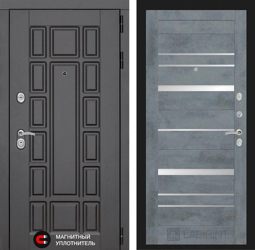 Входная металлическая дверь Лабиринт Нью-Йорк 20 (Венге / Бетон темный)