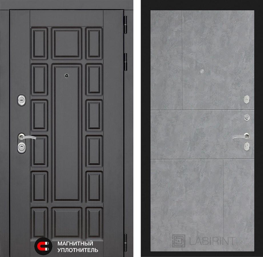 Входная металлическая дверь Лабиринт Нью-Йорк 21 (Венге / Бетон светлый)