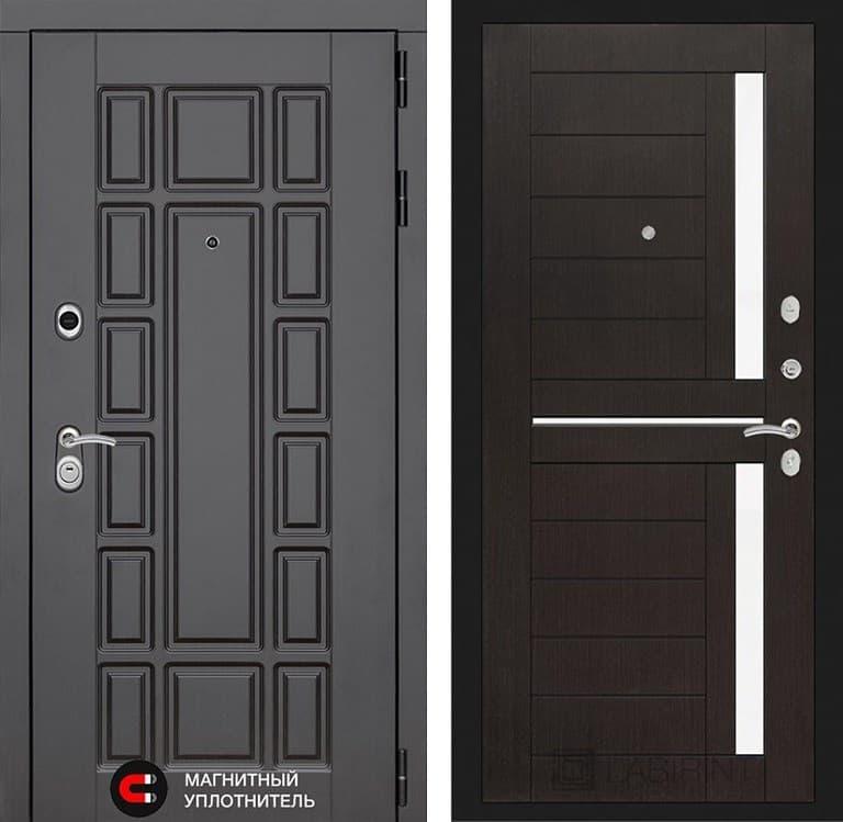 Входная металлическая дверь Лабиринт Нью-Йорк 2 (Венге / Венге)