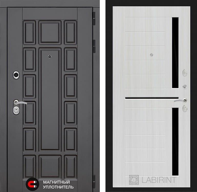 Входная металлическая дверь Лабиринт Нью-Йорк 2 (Венге / Сандал белый)