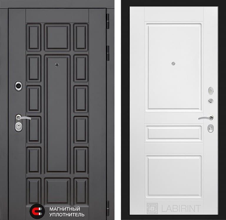 Входная металлическая дверь Лабиринт Нью-Йорк 3 (Венге / Белый софт)