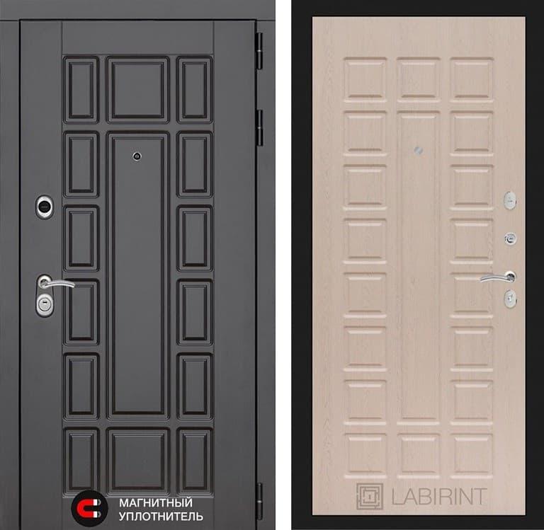 Входная металлическая дверь Лабиринт Нью-Йорк 4 (Венге / Дуб беленый)