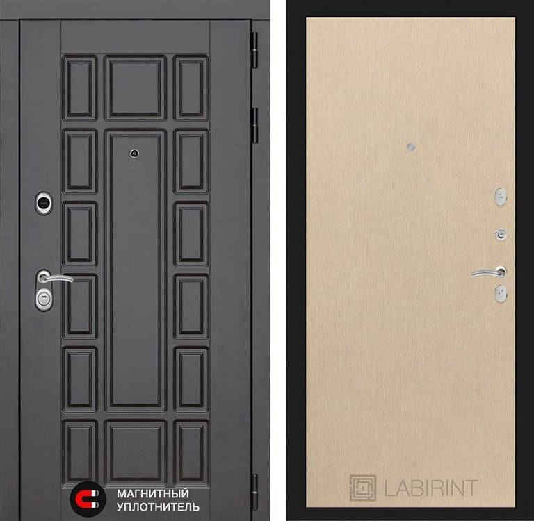 Входная металлическая дверь Лабиринт Нью-Йорк 5 (Венге / Венге светлый)