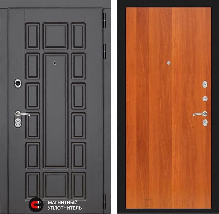 Входная металлическая дверь Лабиринт Нью-Йорк 5 (Венге / Итальянский орех)