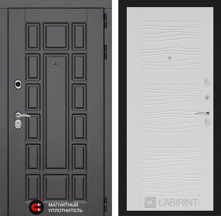 Входная металлическая дверь Лабиринт Нью-Йорк 6 (Венге / Белое дерево)