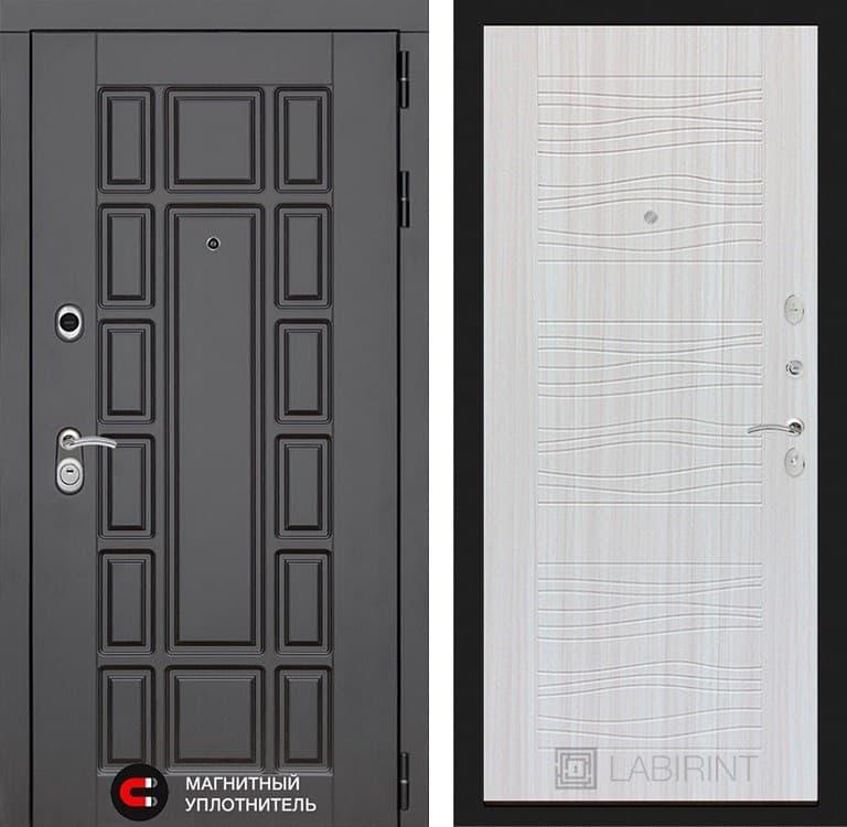 Входная металлическая дверь Лабиринт Нью-Йорк 6 (Венге / Сандал белый)