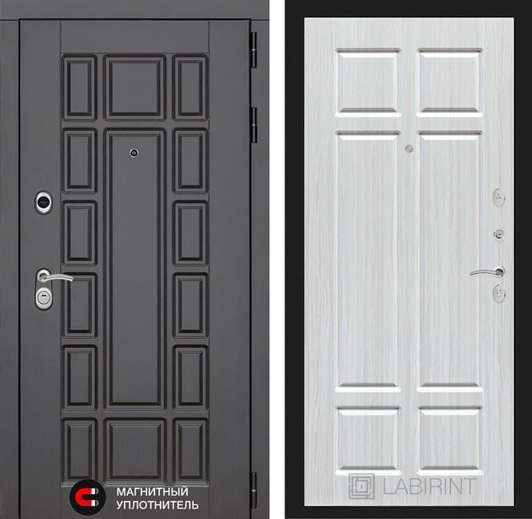 Входная металлическая дверь Лабиринт Нью-Йорк 8 (Венге / Кристалл вуд)
