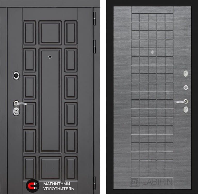 Входная металлическая дверь Лабиринт Нью-Йорк 9 (Венге / Лен сильвер грей)