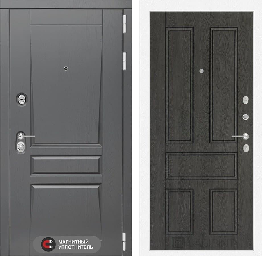 Входная металлическая дверь Лабиринт Платинум 10 (Альберо Грей / Дуб филадельфия графит)