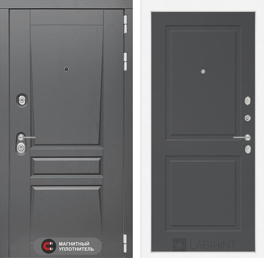 Входная металлическая дверь Лабиринт Платинум 11 (Альберо Грей / Графит софт)