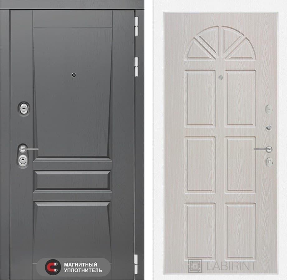 Входная металлическая дверь Лабиринт Платинум 15 (Альберо Грей / Алмон 25)