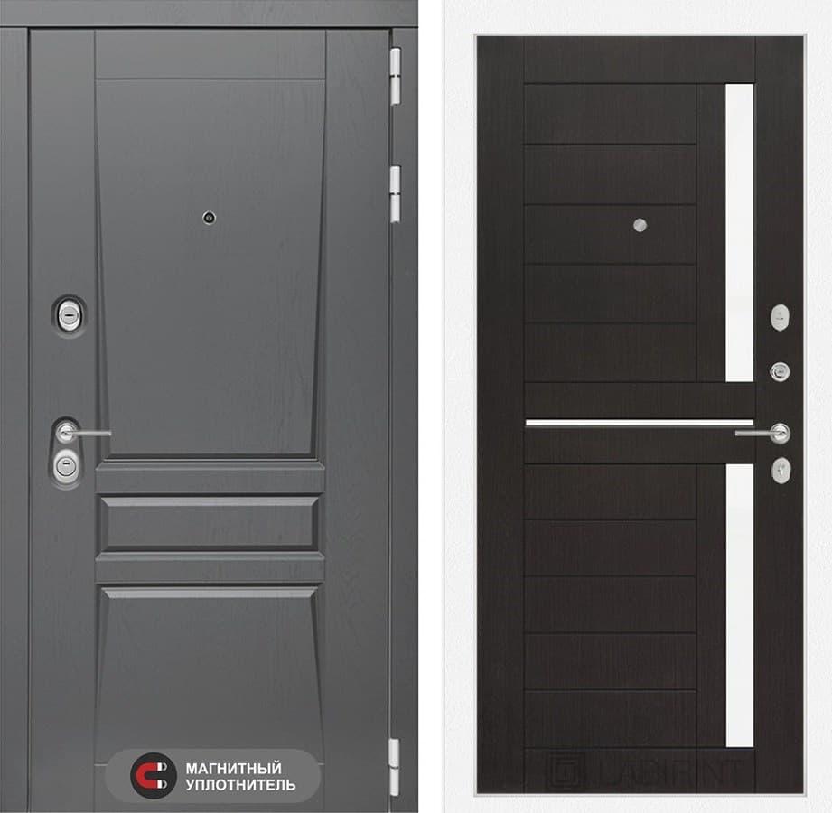 Входная металлическая дверь Лабиринт Платинум 2 (Альберо Грей / Венге)