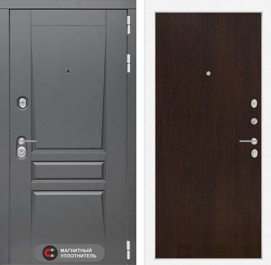 Входная металлическая дверь Лабиринт Платинум 5 (Альберо Грей / Венге)