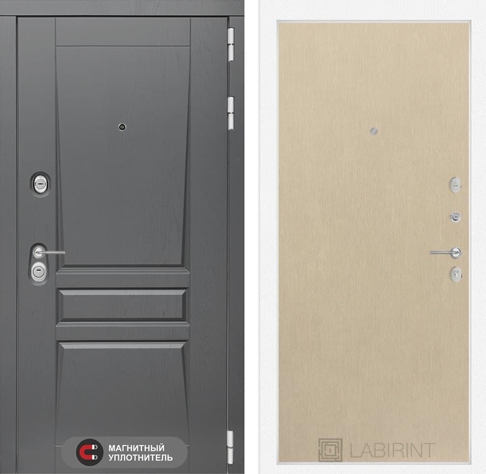 Входная металлическая дверь Лабиринт Платинум 5 (Альберо Грей / Венге светлый)